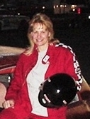 Race car driver, author, Margaret E. Reid